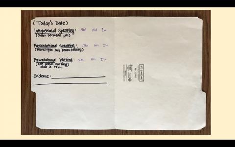 Student Proficiency Folder